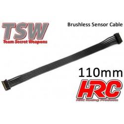 HRC5701C Câble plat de capteur Brushless - TSW Pro Racing – 110mm