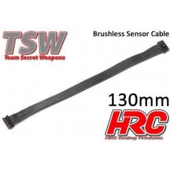 HRC5701E Câble plat de capteur Brushless - TSW Pro Racing – 130mm