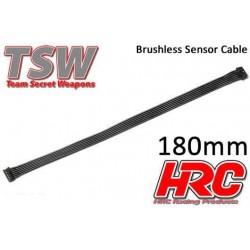 HRC5701H Câble plat de capteur Brushless - TSW Pro Racing – 180mm