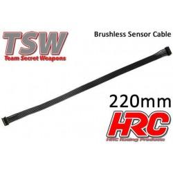 HRC5701K Câble plat de capteur Brushless - TSW Pro Racing – 220mm