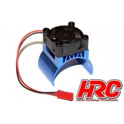 HRC5832BL Radiateur moteur - TOP avec ventilateur Brushless - 5~9 VDC - Moteur 540 – Bleu