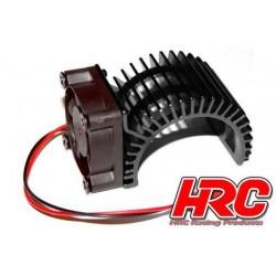 HRC5834BK Radiateur moteur - SIDE avec ventilateur Brushless - 5~9 VDC - Moteur 540 – Noir