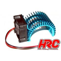 HRC5834BL Radiateur moteur - SIDE avec ventilateur Brushless - 5~9 VDC - Moteur 540 – Bleu