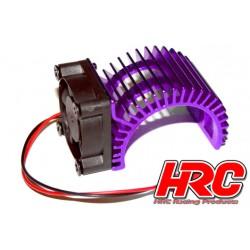 HRC5834PU Radiateur moteur - SIDE avec ventilateur Brushless - 5~9 VDC - Moteur 540 – Purple