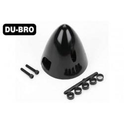DUB550 Pièce d'avion – Cône d'hélice tripale - 76mm (3'') - Noir (1 pce)