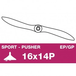 AP-16014P APC - Hélice sport - Propulsive - EP/GP - 16X14P