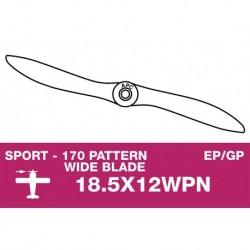 AP-18512WPN APC - Hélice sport - fine - EP/GP - 18.5X12WPN