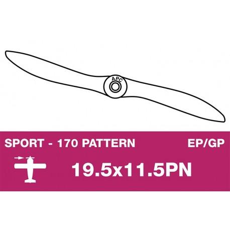 AP-195115PN APC - Hélice sport - fine - EP/GP - 19.5X11.5PN