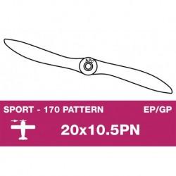 AP-200105PN APC - Hélice sport - fine - EP/GP - 20X10.5PN