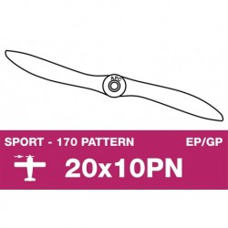 AP-20010PN APC - Hélice sport - fine - EP/GP - 20X10PN