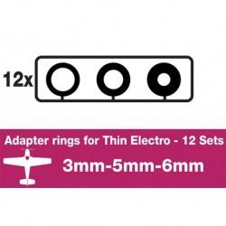 AP-ARM12SF APC - Adapter rings - APC SLOWFLYER - 12 Sets (3mm, 5mm, 6mm)