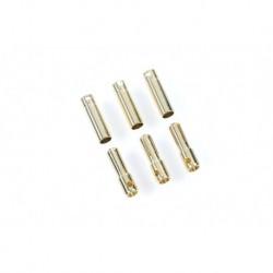 CC-CC Bullet 4mm Castle - Connecteurs Bullet 4.0mm - 3 pcs Male + 3 pcs Femelle