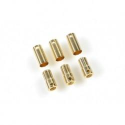 CC-CC Bullet 6.5mm Castle - Connecteurs Bullet 6.5mm - 3 pcs Male + 3 pcs Femelle