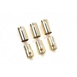 CC-CC Bullet 8.0mm Castle - Connecteurs Bullet 8.0mm - 3 pcs Male + 3 pcs Femelle