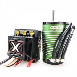 CC-010-0145-04 Castle - Mamba Monster X - Combo - Variateur brushless haute performance voiture 1-8