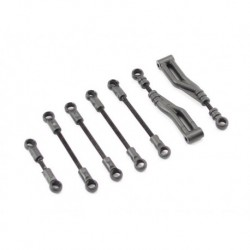 ISH-010-005 Ishima - Front Upper Linkage Set +Steering Linkage Set + Rear Upper Linkage Set + Servo Linkage Set