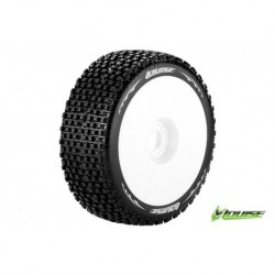 LR-T3126SW Louise RC - B-PIRATE - Pneus 1-8 Buggy - Montés - Collés - Soft - Jantes Blanches - Hex 17mm