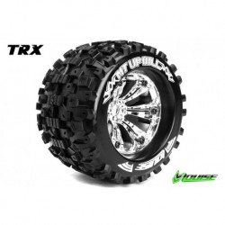 LR-T3219C Louise RC - MT-UPHILL - Pneus 1-8 Monster Truck - Montés - Collés - Medium - Jantes 3.8
