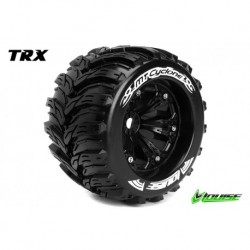LR-T3220BH Louise RC - MT-CYCLONE - Pneus 1-8 Monster Truck - Montés - Collés - Medium - Jantes 3.8