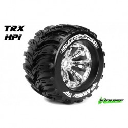 LR-T3220C Louise RC - MT-CYCLONE - Pneus 1-8 Monster Truck - Montés - Collés - Medium - Jantes 3.8