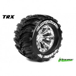 LR-T3220CH Louise RC - MT-CYCLONE - Pneus 1-8 Monster Truck - Montés - Collés - Medium - Jantes 3.8