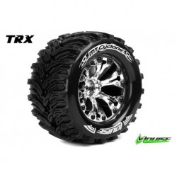 LR-T3226SC Louise RC - MT-CYCLONE - Pneus 1-10 Monster Truck - Montés - Collés - Soft - Jantes 2.8