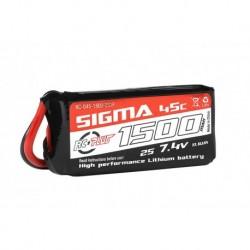 RC-G45-1500-2S1P RC Plus - Li-Po Batterypack - Sigma 45C - 1500 mAh - 2S1P - 7.4V - XT-60
