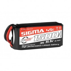 RC-G45-1500-3S1P RC Plus - Li-Po Batterypack - Sigma 45C - 1500 mAh - 3S1P - 11.1V - XT-60