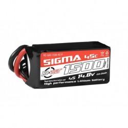 RC-G45-1500-4S1P RC Plus - Li-Po Batterypack - Sigma 45C - 1500 mAh - 4S1P - 14.8V - XT-60