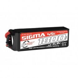 RC-G45-1800-4S1P RC Plus - Li-Po Batterypack - Sigma 45C - 1800 mAh - 4S1P - 14.8V - XT-60