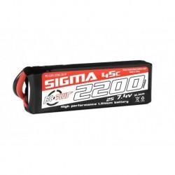 RC-G45-2200-2S1P RC Plus - Li-Po Batterypack - Sigma 45C - 2200 mAh - 2S1P - 7.4V - XT-60