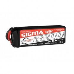 RC-G45-2200-3S1P RC Plus - Li-Po Batterypack - Sigma 45C - 2200 mAh - 3S1P - 11.1V - XT-60