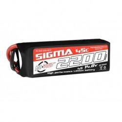 RC-G45-2200-4S1P RC Plus - Li-Po Batterypack - Sigma 45C - 2200 mAh - 4S1P - 14.8V - XT-60
