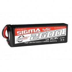 RC-G45-2600-4S1P RC Plus - Li-Po Batterypack - Sigma 45C - 2600 mAh - 4S1P - 14.8V - XT-60