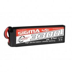 RC-G45-3300-2S1P RC Plus - Li-Po Batterypack - Sigma 45C - 3300 mAh - 2S1P - 7.4V - XT-60