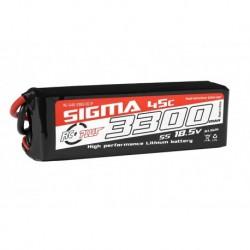 RC-G45-3300-5S1P RC Plus - Li-Po Batterypack - Sigma 45C - 3300 mAh - 5S1P - 18.5V - XT-60
