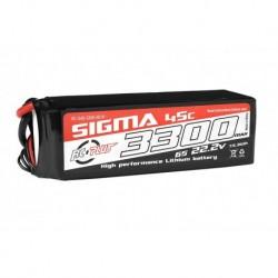 RC-G45-3300-6S1P RC Plus - Li-Po Batterypack - Sigma 45C - 3300 mAh - 6S1P - 22.2V - XT-60