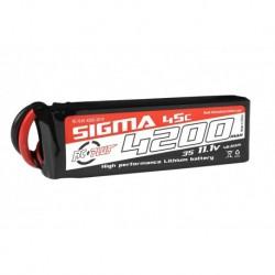 RC-G45-4200-3S1P RC Plus - Li-Po Batterypack - Sigma 45C - 4200 mAh - 3S1P - 11.1V - XT-60