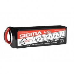 RC-G45-4200-4S1P RC Plus - Li-Po Batterypack - Sigma 45C - 4200 mAh - 4S1P - 14.8V - XT-60