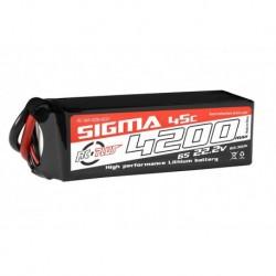 RC-G45-4200-6S1P RC Plus - Li-Po Batterypack - Sigma 45C - 4200 mAh - 6S1P - 22.2V - XT-60