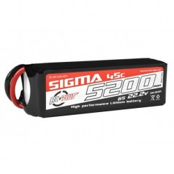 RC-G45-5200-6S1P RC Plus - Li-Po Batterypack - Sigma 45C - 5200 mAh - 6S1P - 22.2V - XT-60