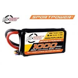 RC-S30-1000-3S1P RC Plus - Pack d'accu Li-Po - Sportsline 30C - 1000 mAh - 3S1P - 11,1V - Deans connecteur