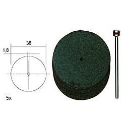 PRO28820 PROXXON 5 disques tronçonner 38 mm