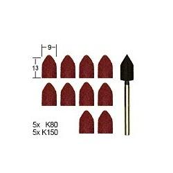PRO28987 PROXXON 10 meules adhésifs + supp.