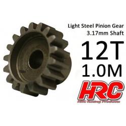HRC71012S Pignon - 1.0M / axe 3.17mm - Acier – Léger – 12D