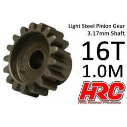 HRC71016S Pignon - 1.0M / axe 3.17mm - Acier – Léger – 16D