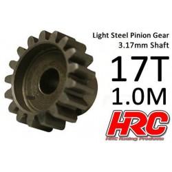 HRC71017S Pignon - 1.0M / axe 3.17mm - Acier – Léger – 17D