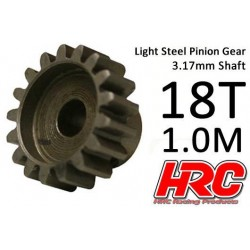 HRC71018S Pignon - 1.0M / axe 3.17mm - Acier – Léger – 18D