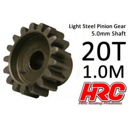 HRC71020 Pignon - 1.0M / axe 5mm - Acier – Léger – 20D