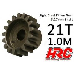HRC71021S Pignon - 1.0M / axe 3.17mm - Acier – Léger – 21D